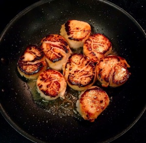 Perfectly Cooked Scallops