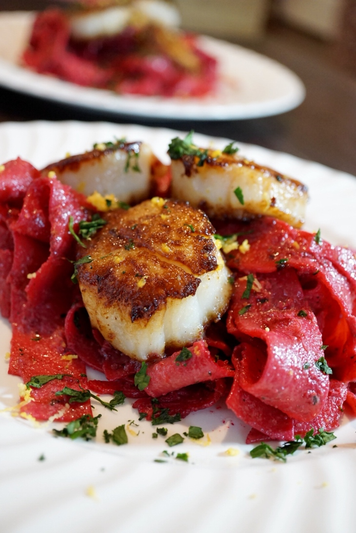 beet-pappardelle-with-scallops-3