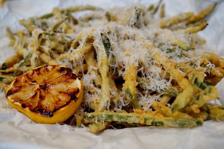 federal hill in bloom - zucchini fries
