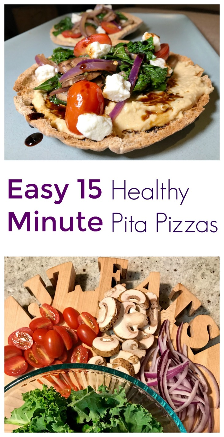 15 Minute Healthy Pita Pizzas